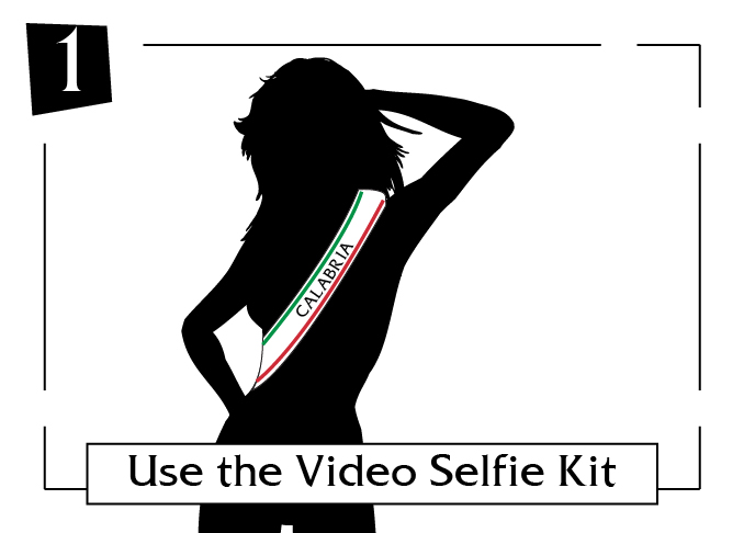 use the video selfie kit calabria
