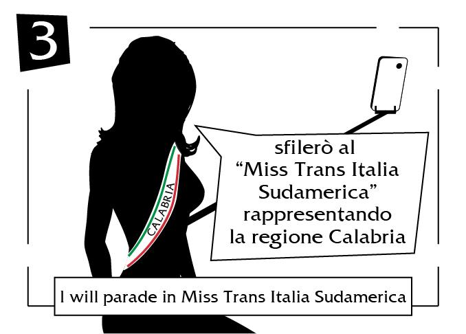 I will parade in miss trans italia sudamerica Calabria