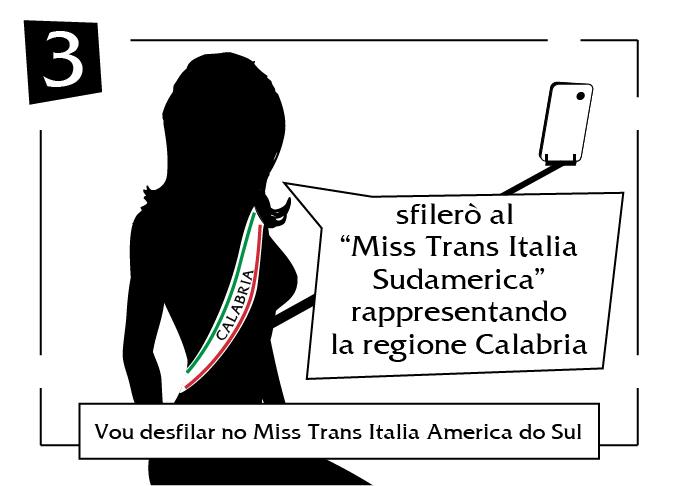 Vou desfilar no miss trans italia america do sul Calabria